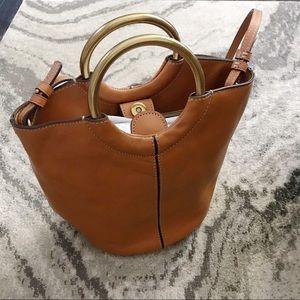 Jcrew Bracelet bucket bag in Italian leather